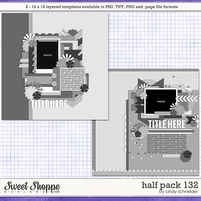 Cindy's Layered Templates - Half Pack 132 by Cindy Schneider