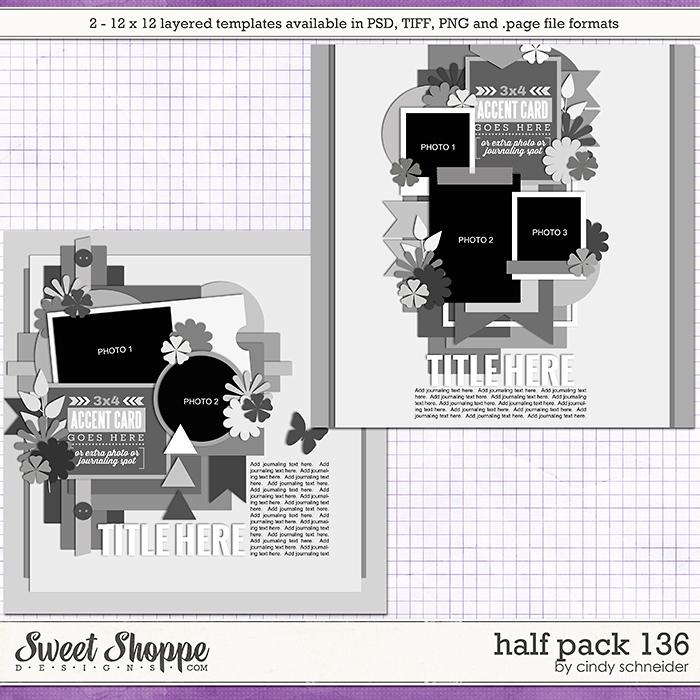 Cindy's Layered Templates - Half Pack 136 by Cindy Schneider
