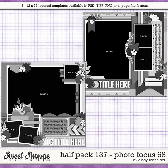 Cindy's Layered Templates - Half Pack 137: Photo Focus 68 by Cindy Schneider