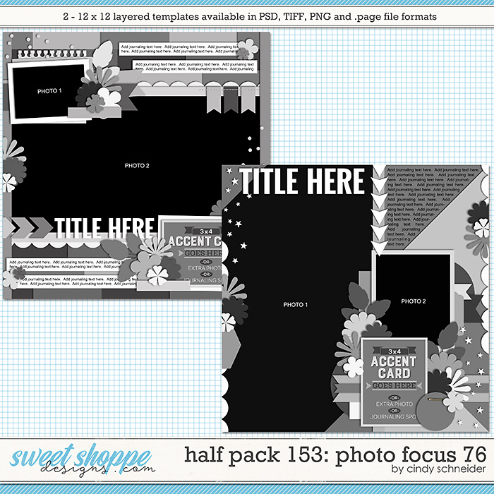 Cindy's Layered Templates - Half Pack 153: Photo Focus 76 by Cindy Schneider
