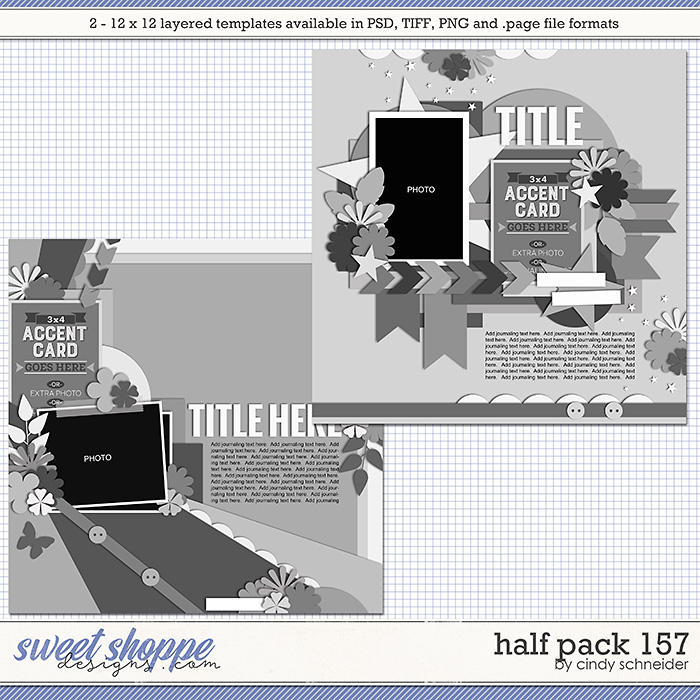 Cindy's Layered Templates - Half Pack 157 by Cindy Schneider