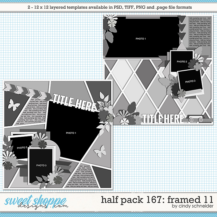 Cindy's Layered Templates - Half Pack 167: Framed 11 by Cindy Schneider