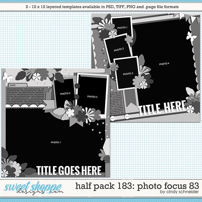 Cindy's Layered Templates - Half Pack 183: Photo Focus 83 by Cindy Schneider