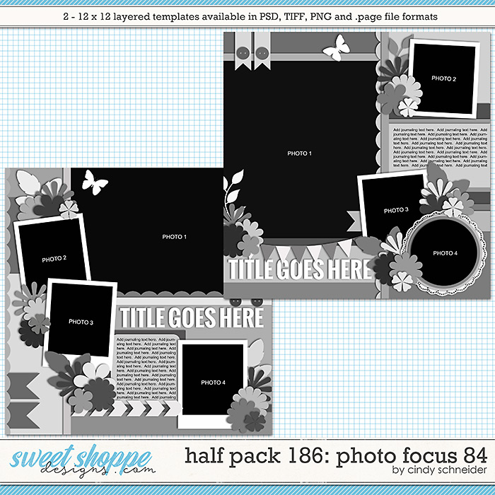 Cindy's Layered Templates - Half Pack 186: Photo Focus 84 by Cindy Schneider