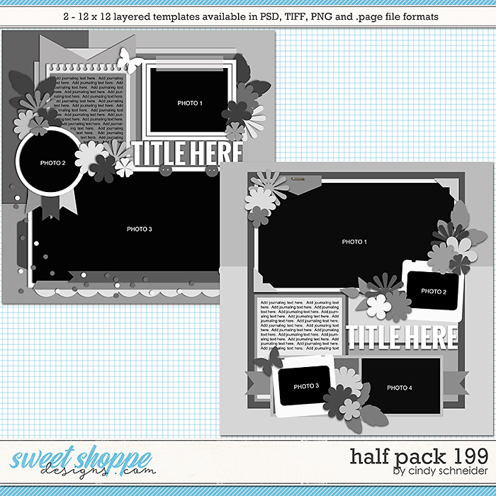 Cindy's Layered Templates - Half Pack 199 by Cindy Schneider