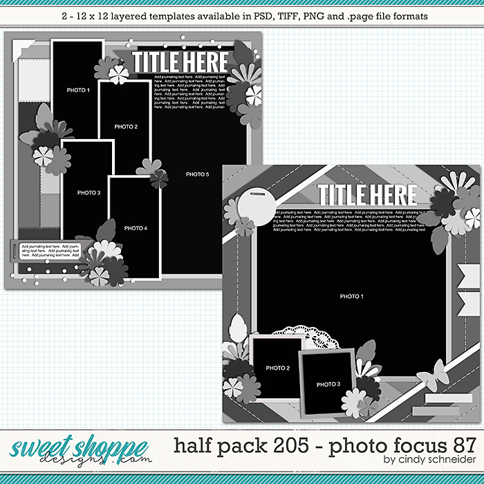 Cindy's Layered Templates - Half Pack 205: Photo Focus 87 by Cindy Schneider