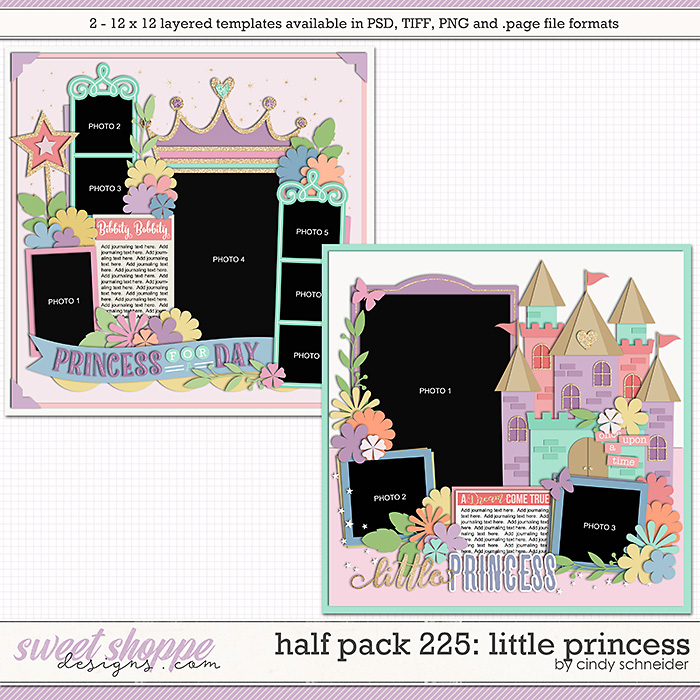 Cindy's Layered Templates - Half Pack 225: Little Princess by Cindy Schneider