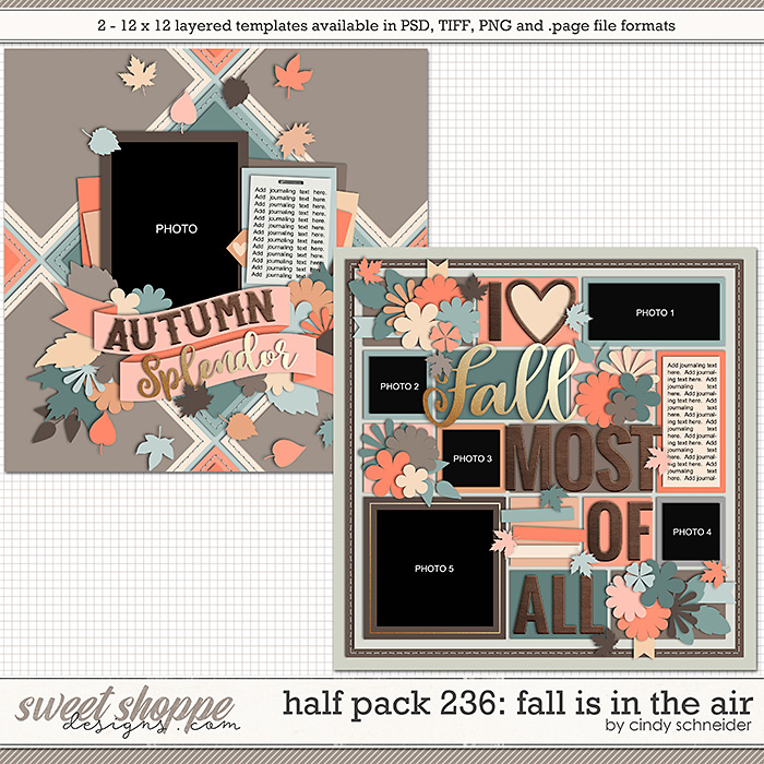 Cindy's Layered Templates - Half Pack 236: Fall is in the Air by Cindy Schneider