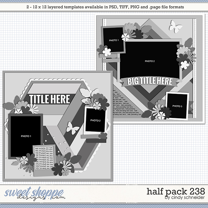 Cindy's Layered Templates - Half Pack 238 by Cindy Schneider