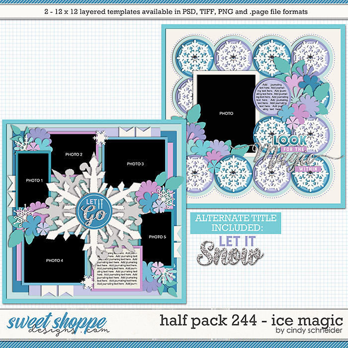 Cindy's Layered Templates - Half Pack 244: Ice Magic by Cindy Schneider