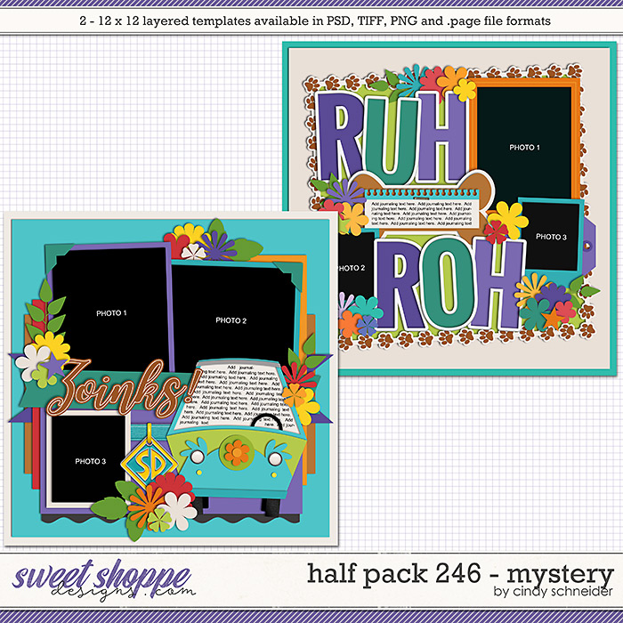 Cindy's Layered Templates - Half Pack 246: Mystery by Cindy Schneider