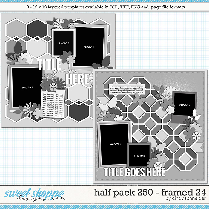 Cindy's Layered Templates - Half Pack 250: Framed 24 by Cindy Schneider