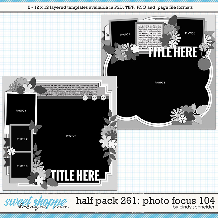 Cindy's Layered Templates - Half Pack 261: Photo Focus 104 by Cindy Schneider