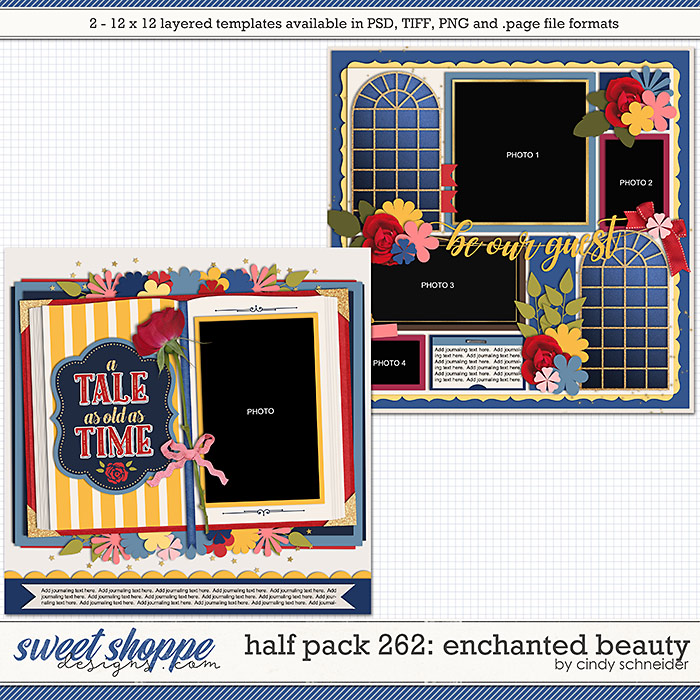 Cindy's Layered Templates - Half Pack 262: Enchanted Beauty by Cindy Schneider