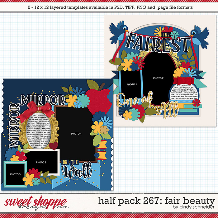 Cindy's Layered Templates - Half Pack 267: Fair Beauty by Cindy Schneider