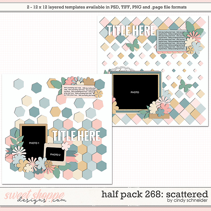 Cindy's Layered Templates - Half Pack 268: Scattered by Cindy Schneider