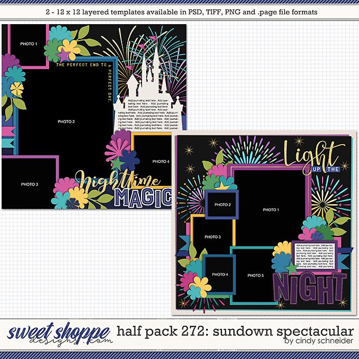 Cindy's Layered Templates - Half Pack 272: Sundown Spectacular by Cindy Schneider