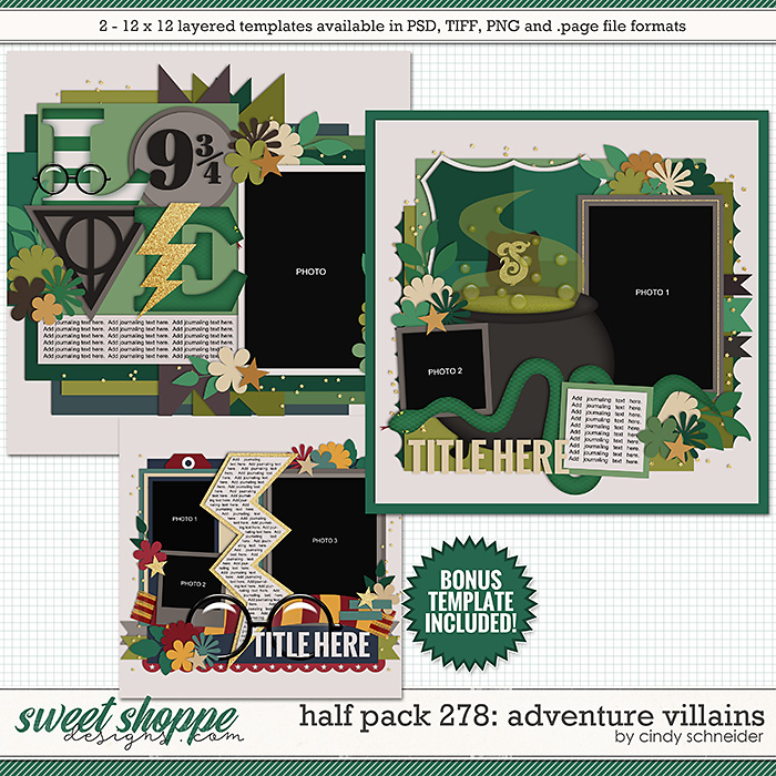 Cindy's Layered Templates - Half Pack 278: Adventure Villains by Cindy Schneider