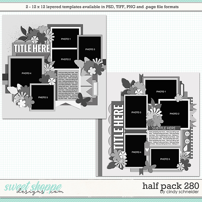 Cindy's Layered Templates - Half Pack 280 by Cindy Schneider