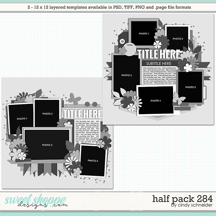 Cindy's Layered Templates - Half Pack 284 by Cindy Schneider