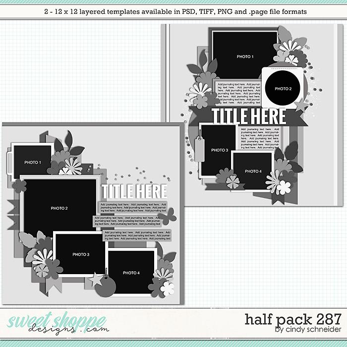 Cindy's Layered Templates - Half Pack 287 by Cindy Schneider