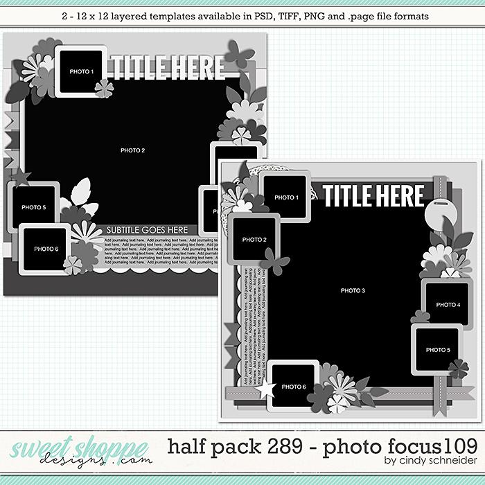 Cindy's Layered Templates - Half Pack 289: Photo Focus 109 by Cindy Schneider