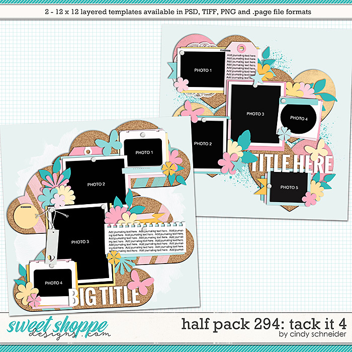Cindy's Layered Templates - Half Pack 294: Tack It 4 by Cindy Schneider