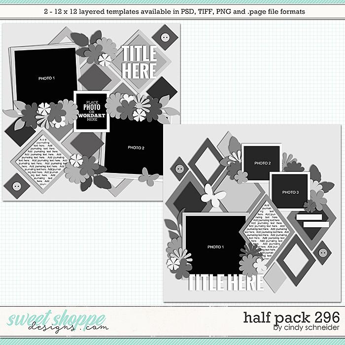 Cindy's Layered Templates - Half Pack 296 by Cindy Schneider
