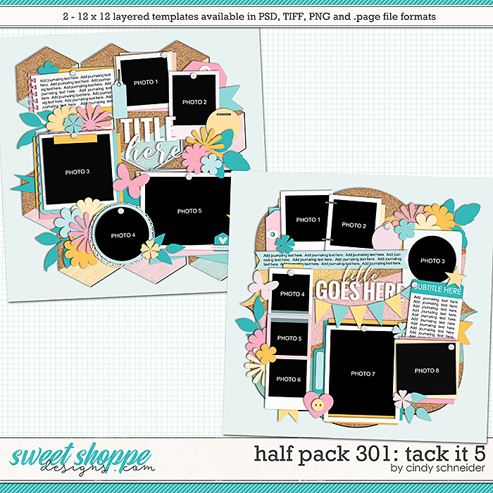 Cindy's Layered Templates - Half Pack 301: Tack it 6 by Cindy Schneider