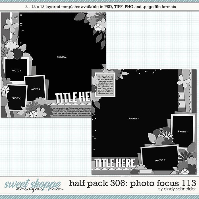 Cindy's Layered Templates - Half Pack 306: Photo Focus 113 by Cindy Schneider
