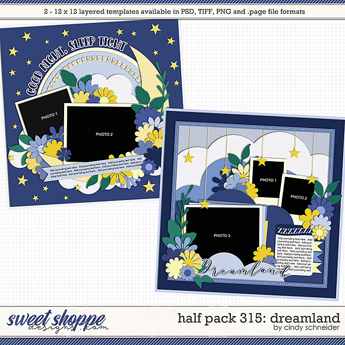 Cindy's Layered Templates - Half Pack 315: Dreamland by Cindy Schneider