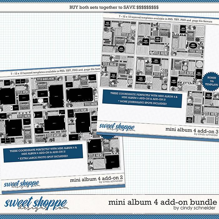 Cindy's Layered Templates - Mini Album 4 Add-on Bundle by Cindy Schneider