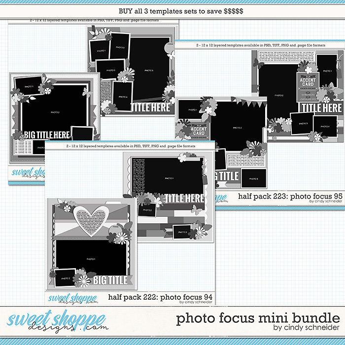 Cindy's Layered Templates - Photo Focus Mini Bundle by Cindy Schneider