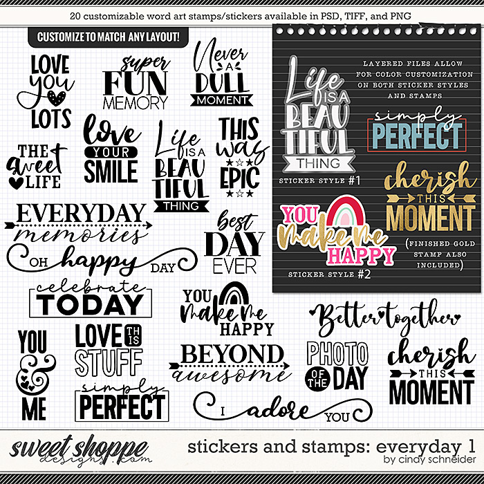 Cindy's Layered Stamps and Stickers: Everyday 1 by Cindy Schneider