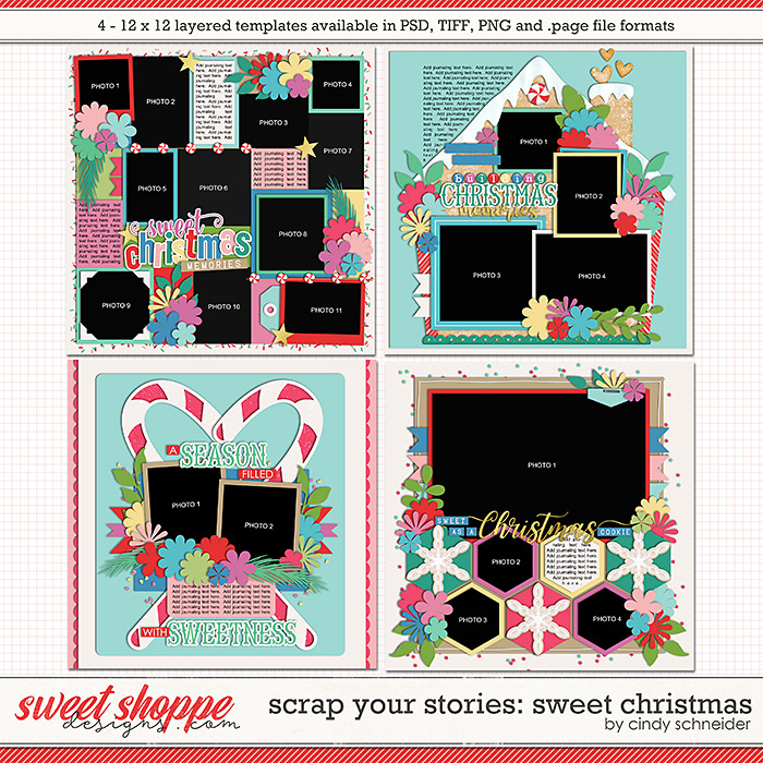 Cindy's Layered Templates - Scrap Your Stories: Sweet Christmas by Cindy Schneider