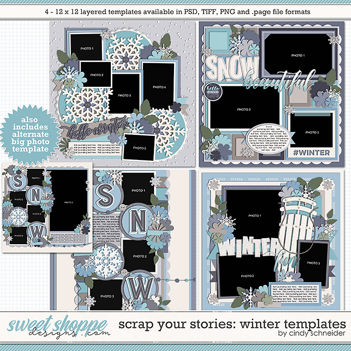 Cindy's Layered Templates - Scrap Your Stories: Winter by Cindy Schneider