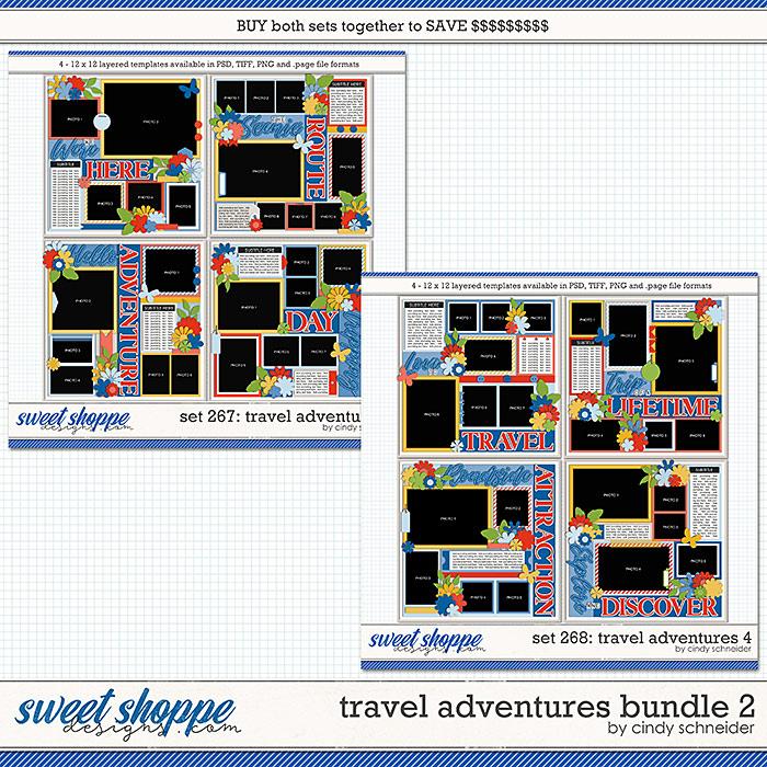 Cindy's Layered Templates - Travel Adventures Bundle 2 by Cindy Schneider