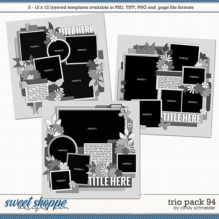Cindy's Layered Templates - Trio Pack 94 by Cindy Schneider