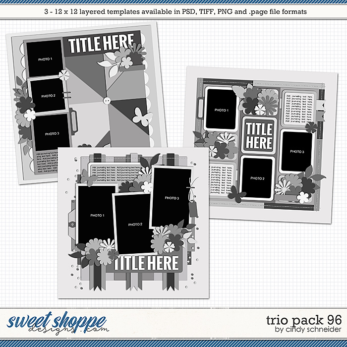 Cindy's Layered Templates - Trio Pack 96 by Cindy Schneider