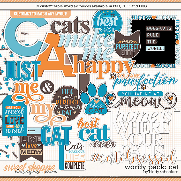 Cindy's Wordy Pack: Cat by Cindy Schneider