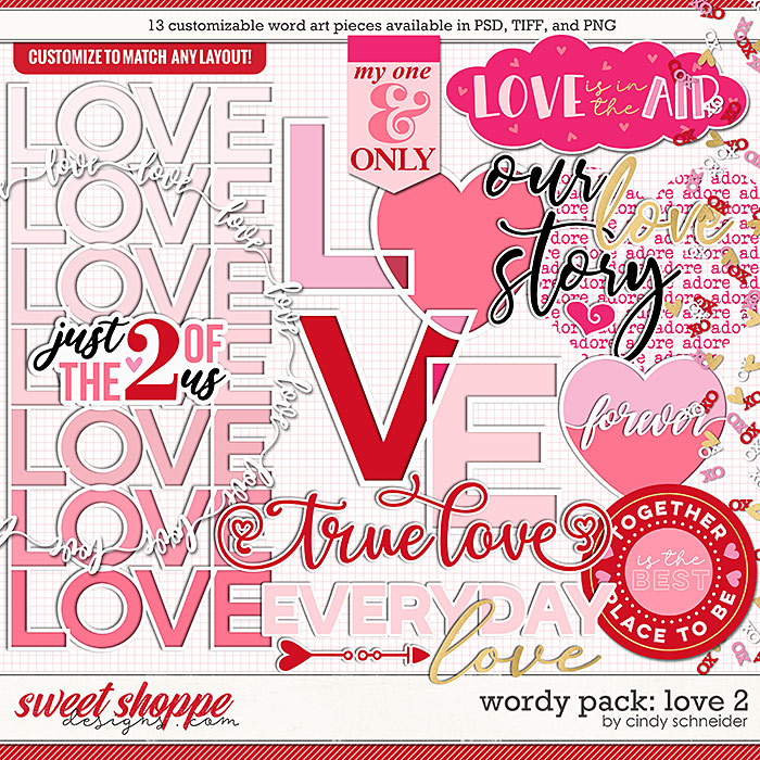 Cindy's Wordy Pack: Love 2 by Cindy Schneider