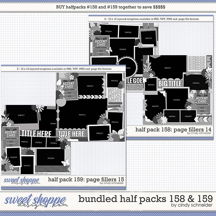 Cindy's Layered Templates - Bundled Half Packs #158-159 by Cindy Schneider