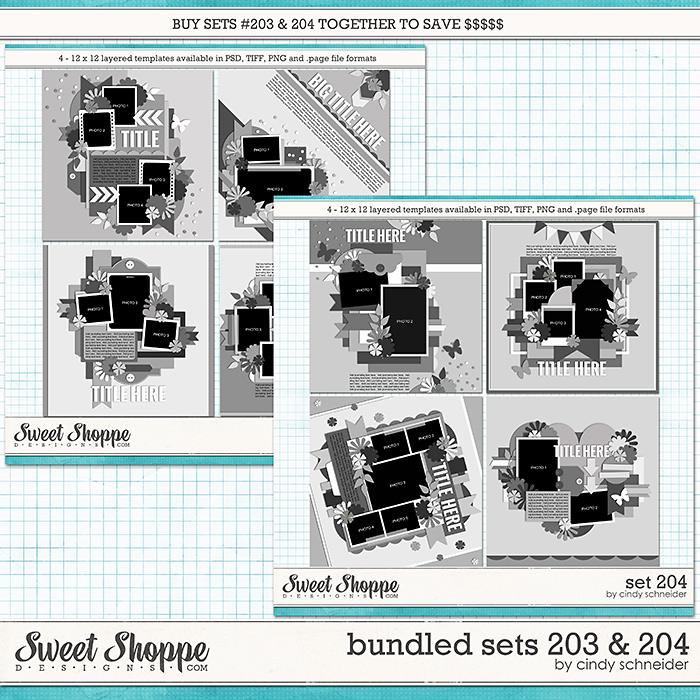 Cindy's Layered Templates - Bundled Sets #203-204 by Cindy Schneider