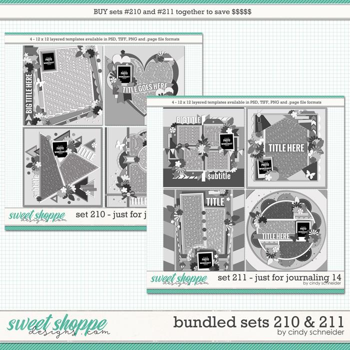 Cindy's Layered Templates - Bundled Sets #210-211 by Cindy Schneider