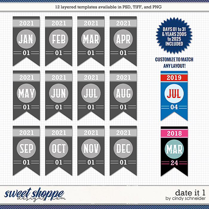 Cindy's Layered Templates - Date It 1 by Cindy Schneider
