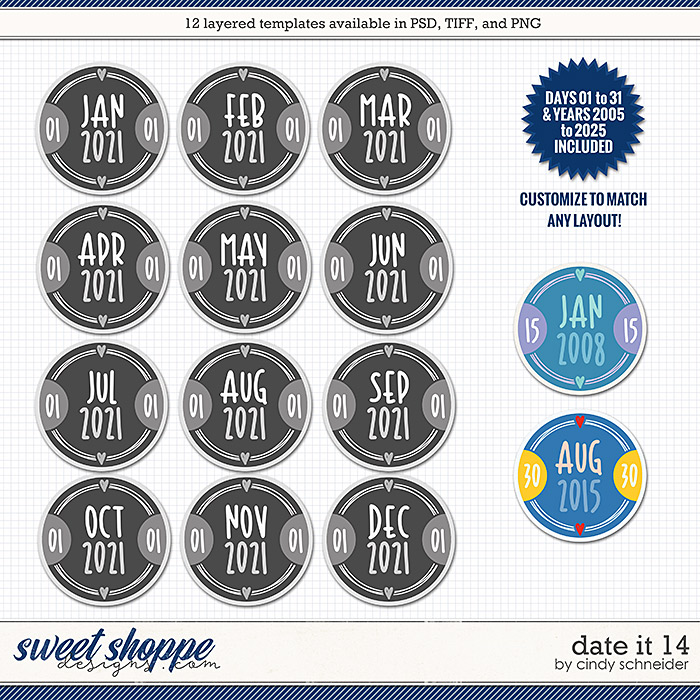 Cindy's Layered Templates - Date It 14 by Cindy Schneider