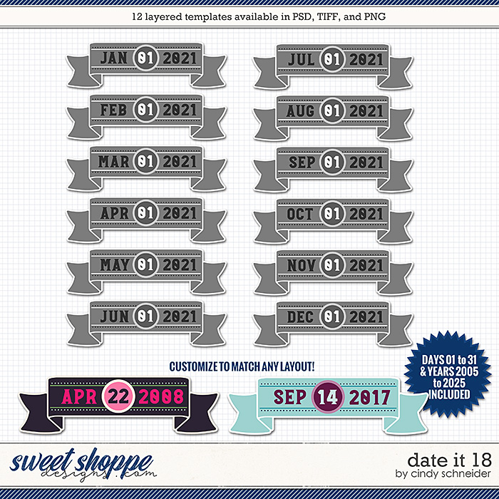 Cindy's Layered Templates - Date It 18 by Cindy Schneider