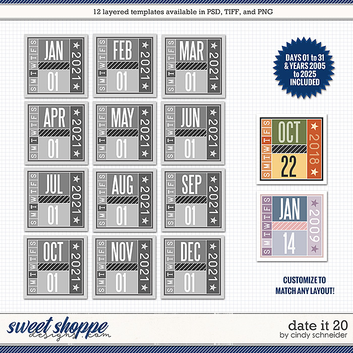 Cindy's Layered Templates - Date It 20 by Cindy Schneider