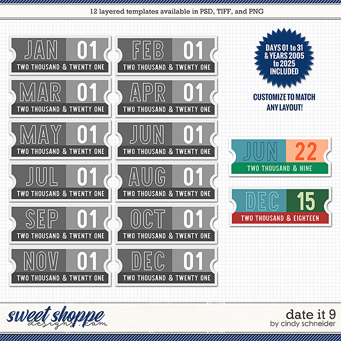 Cindy's Layered Templates - Date It 9 by Cindy Schneider