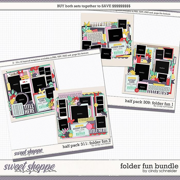 Cindy's Layered Templates - Folder Fun Bundle by Cindy Schneider